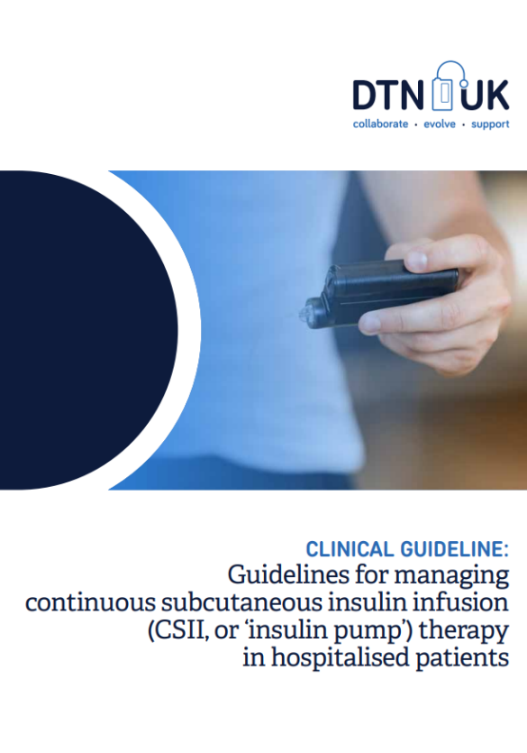 Guidelines for managing continuous subcutaneous insulin infusion (CSII, or 'insulin pump') therapy in hospitalised patients